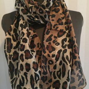 Leopard tunn silkessjal